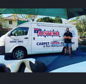 austech carpet cleaning van